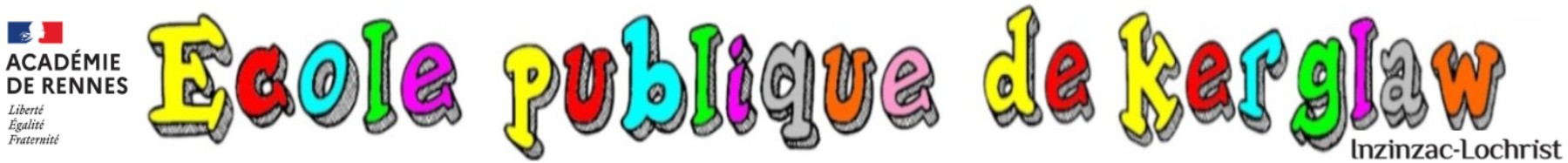 Bienvenue sur le site de l'école publique de Kerglaw